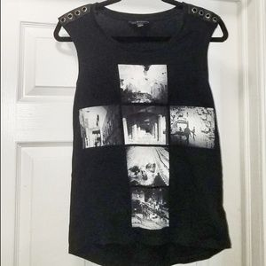 Sleeveless Rocker Shirt